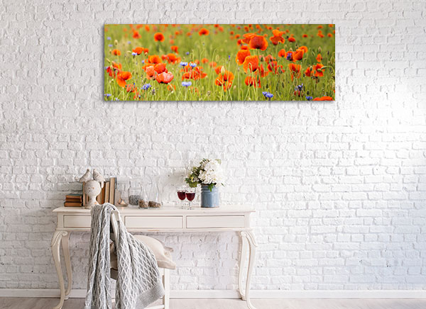Red Wild Poppies Prints Canvas