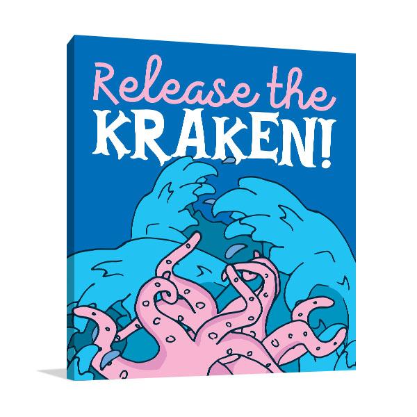 Release The Kraken Canvas Art Prints