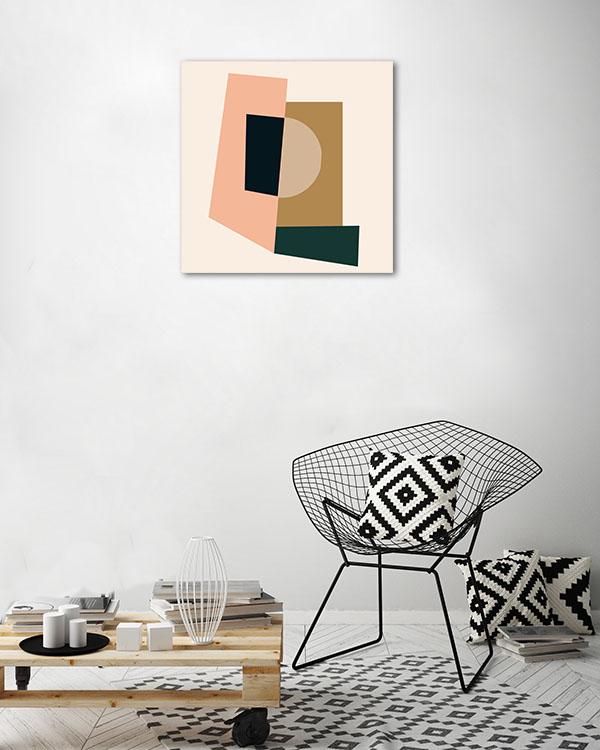 Retro Abstract 1 Print Wall Art