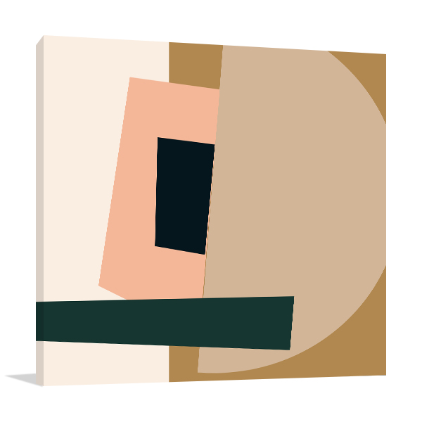 Retro Abstract 2 Wall Canvas