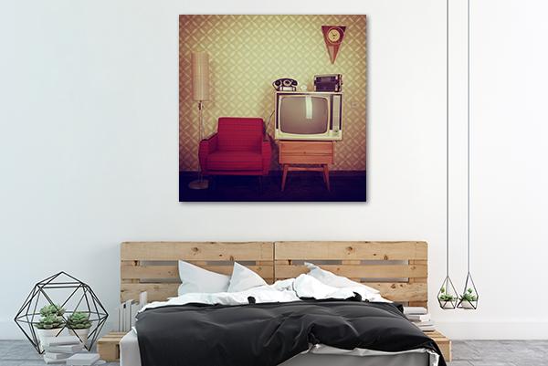 Retro Canvas Art Print on the wall