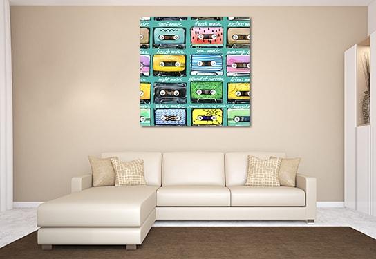 Retro Cassettes Prints Canvas