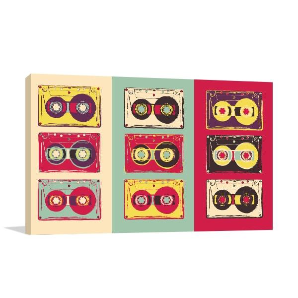 Retro Cassettes Canvas Prints