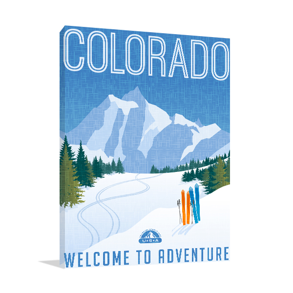 Retro Colorado Poster Prints Canvas