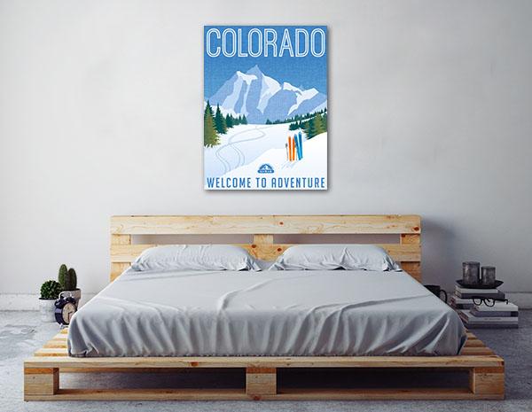 Retro Colorado Poster Print Artwork