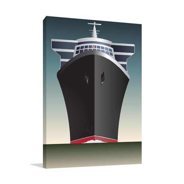 Retro Cruise Ship Canvas Art Prints