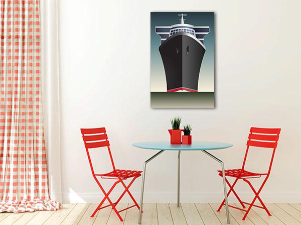 Retro Cruise Ship Canvas Prints