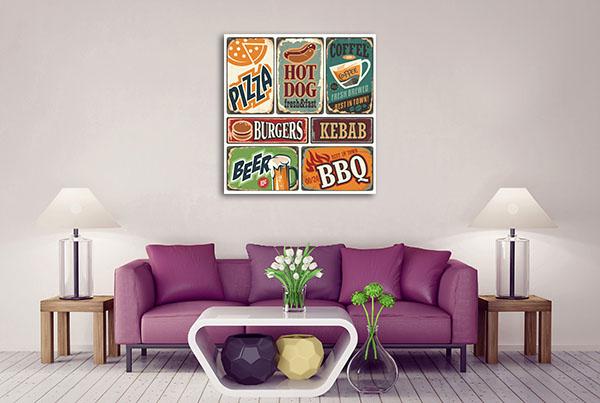 Retro Food Posters Wall Art