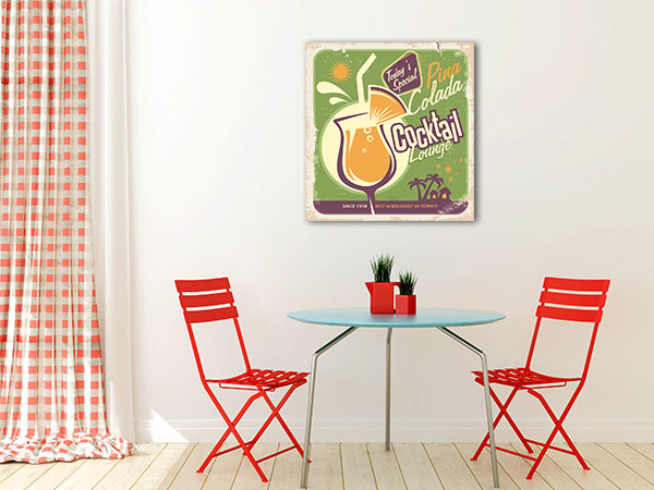 Retro Pina Colada Canvas Art Prints