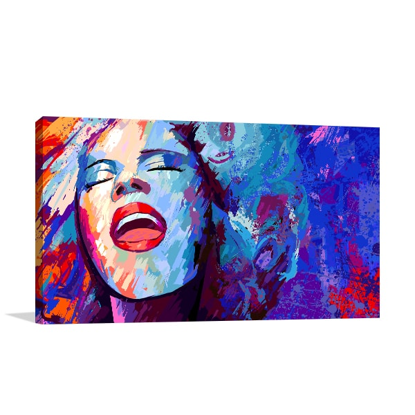 Retro Singer Canvas Prints