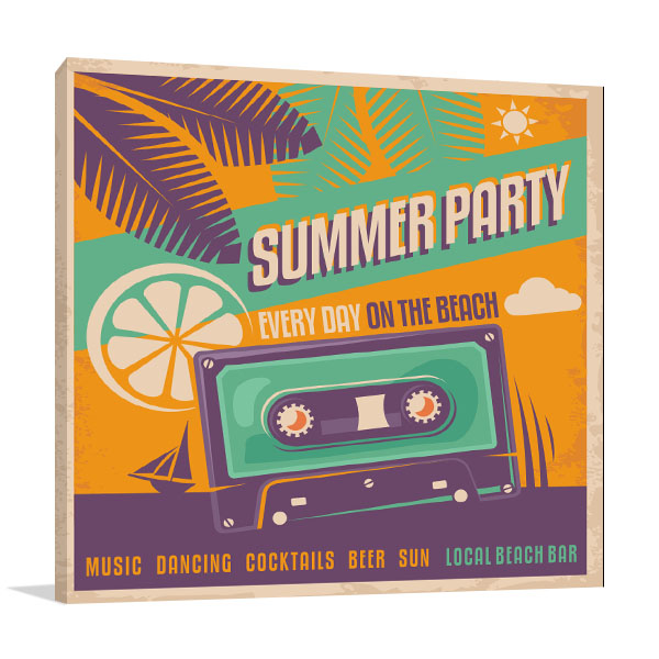 Retro Summer Party Artwork