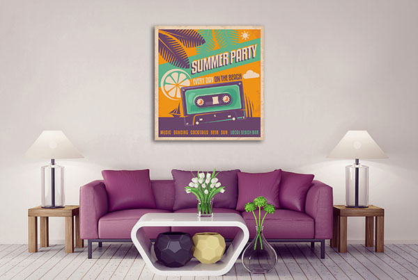Retro Summer Party Canvas Art