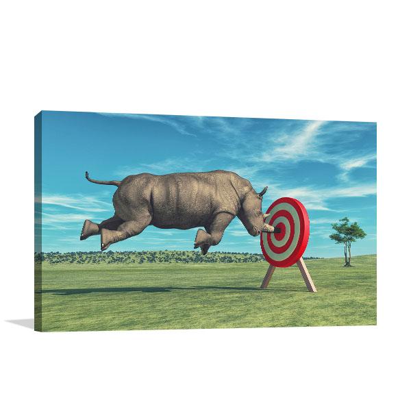 Rhino Aims Canvas Prints