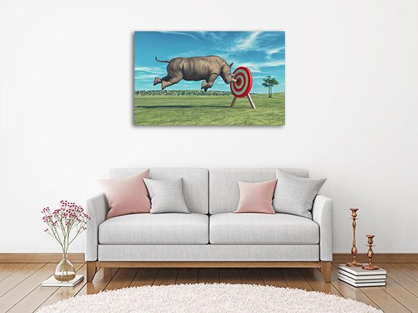 Rhino Aims Artwork