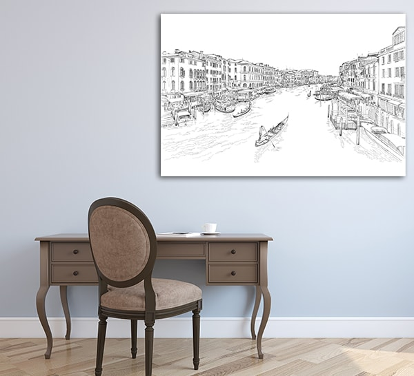 Rialto Bridge Print Canvas on the Wall