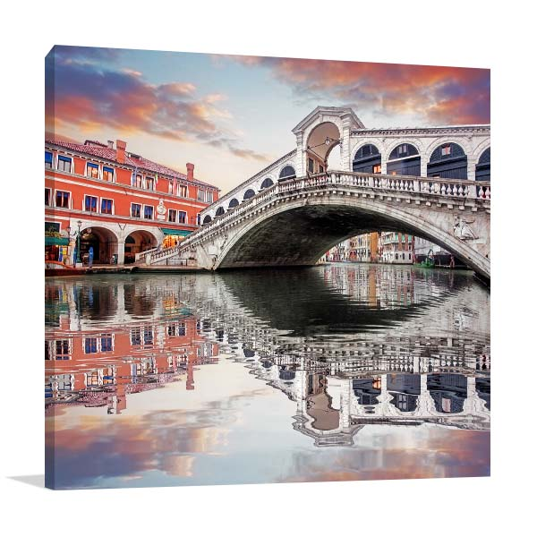 Rialto Bridge Artwork