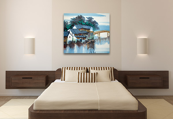 River and Bridge Canvas Prints
