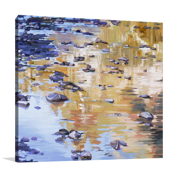 River Rocks and Reflections I Wall Print