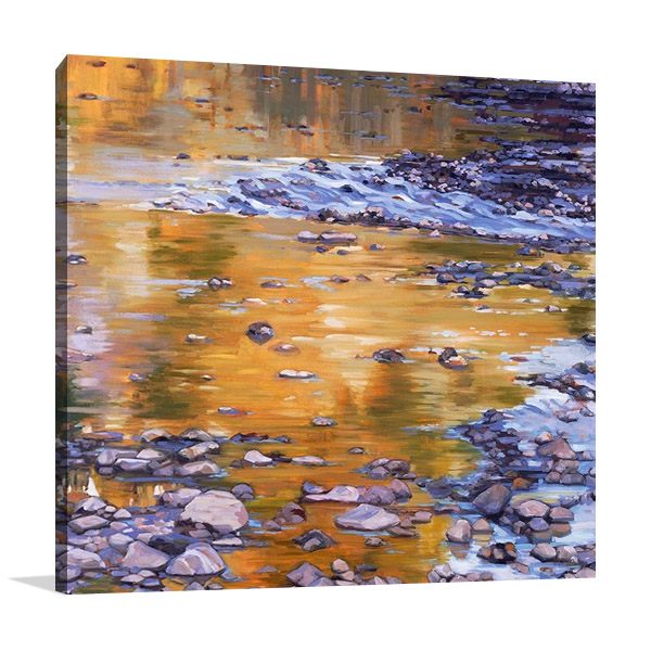 River Rocks and Reflections II Canvas Print