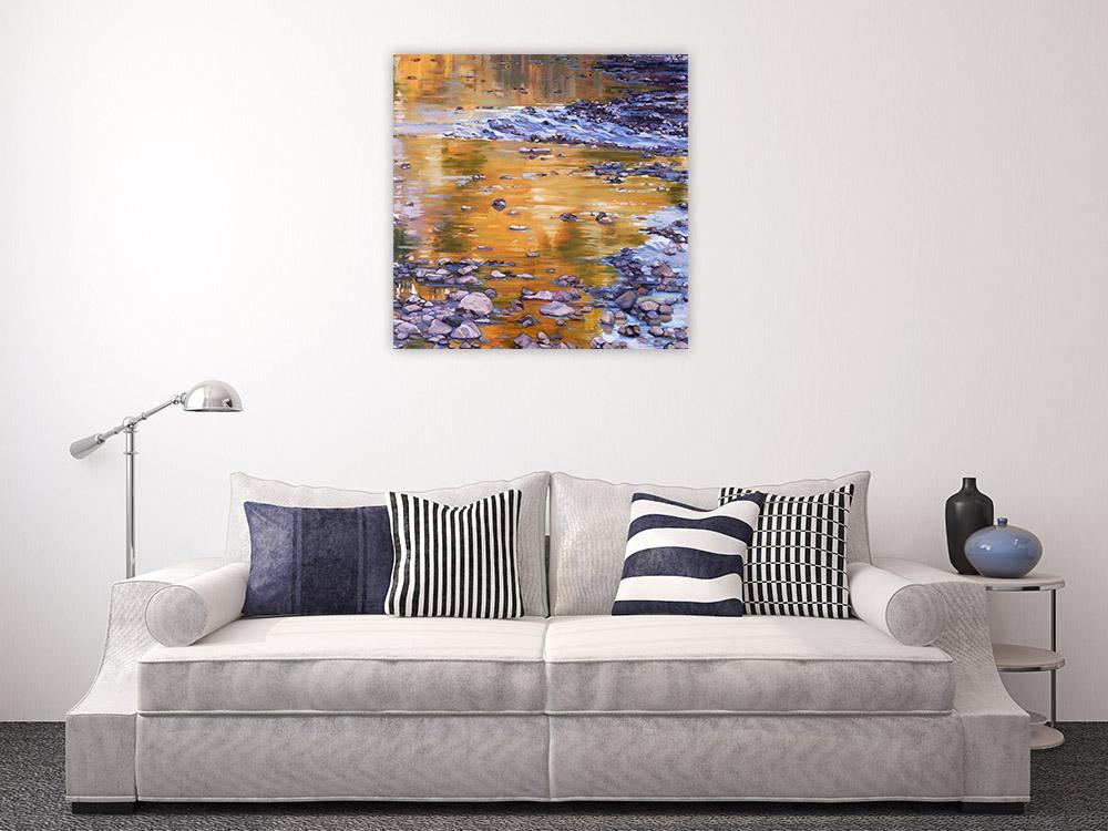 Purple Square Canvas Art Print