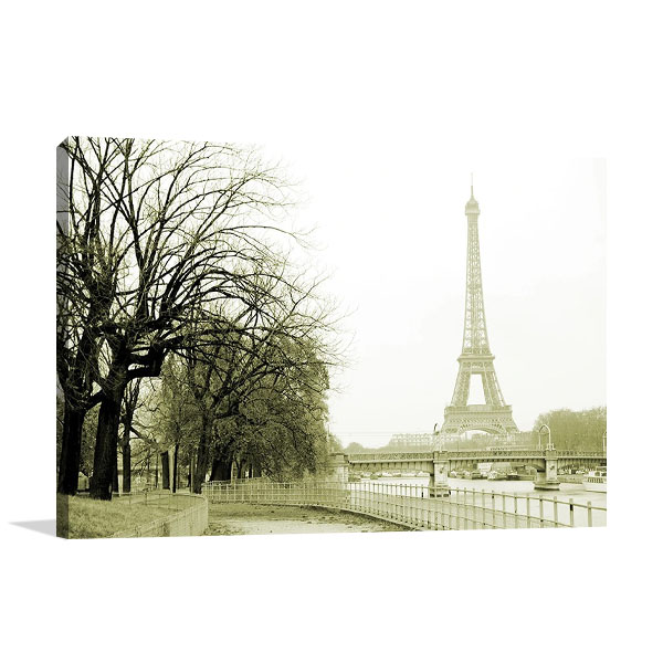 River Seine Eiffel Tower Print