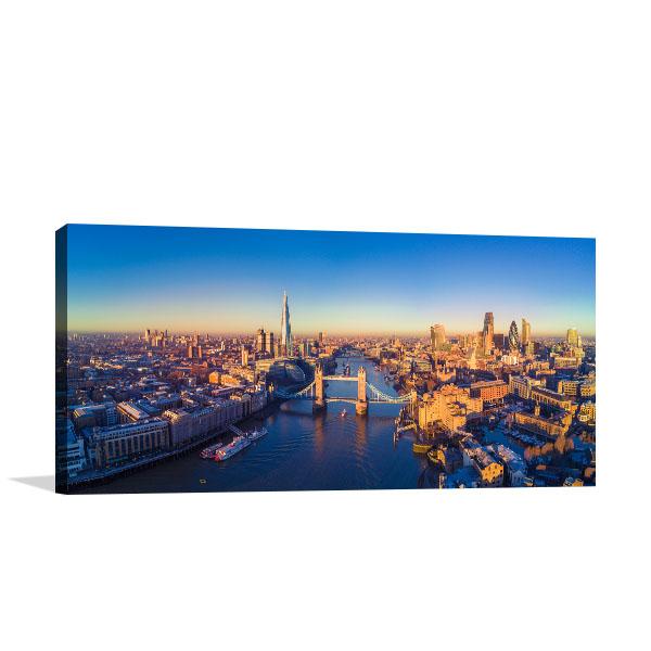 River Thames Panoramic Canvas Prints