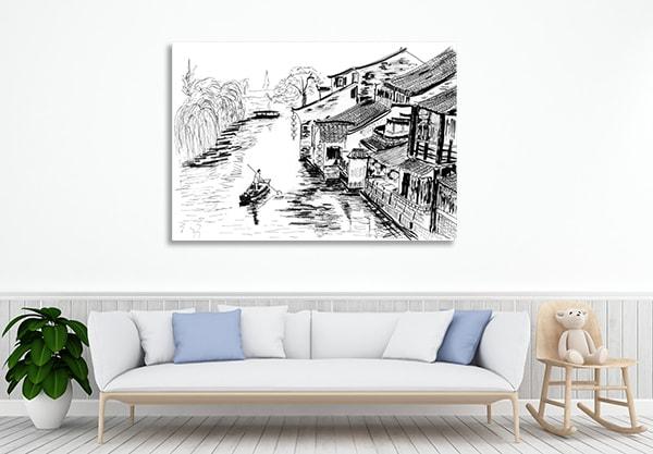 River Village Canvas Prints