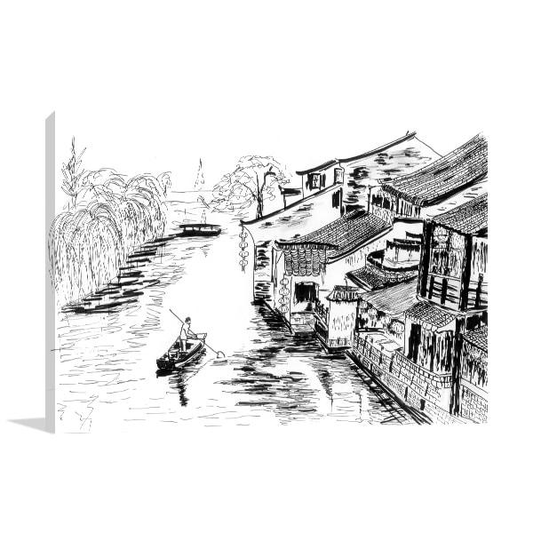 River Village Wall Art