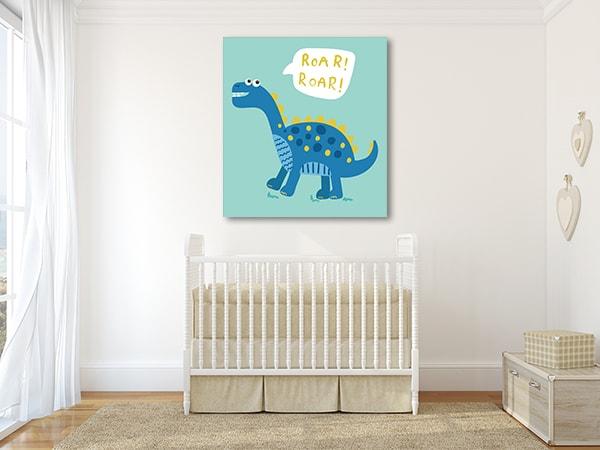 Roar Dinosaur Prints Canvas