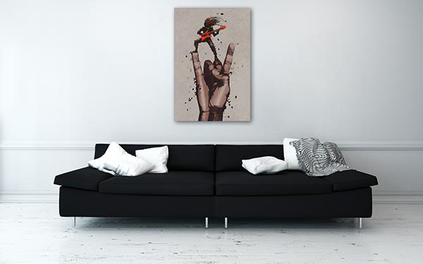 Rock Music Man Prints Canvas