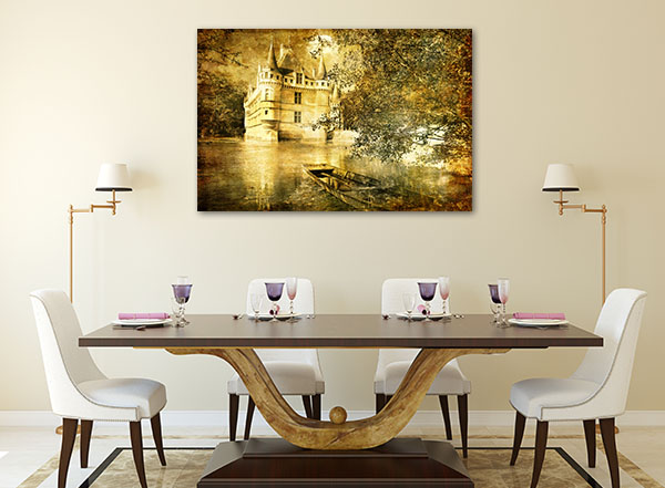Romantic Castle Canvas Prints