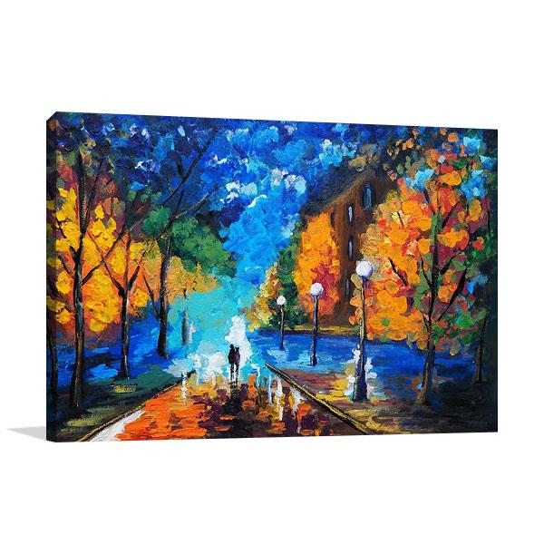 Romantic Date Night Print on Canvas