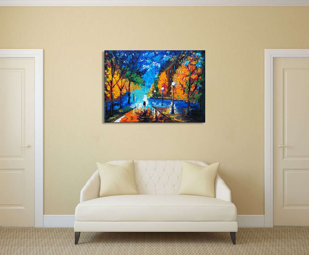 Streetscape Wall Print on Canvas