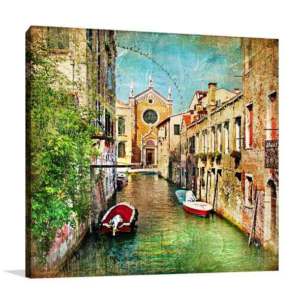 Romantic Venice Canal Artwork