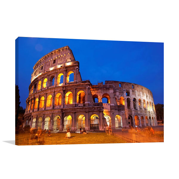 Rome Colosseum at Night Canvas Print