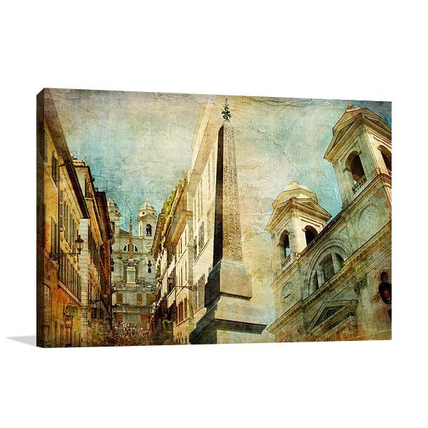 Rome Spanish Stairs Print Art