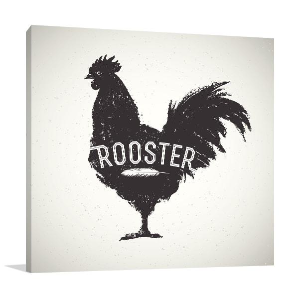 Rooster Print Artwork