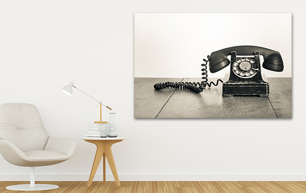 Rotary Phone Art Print on the wall