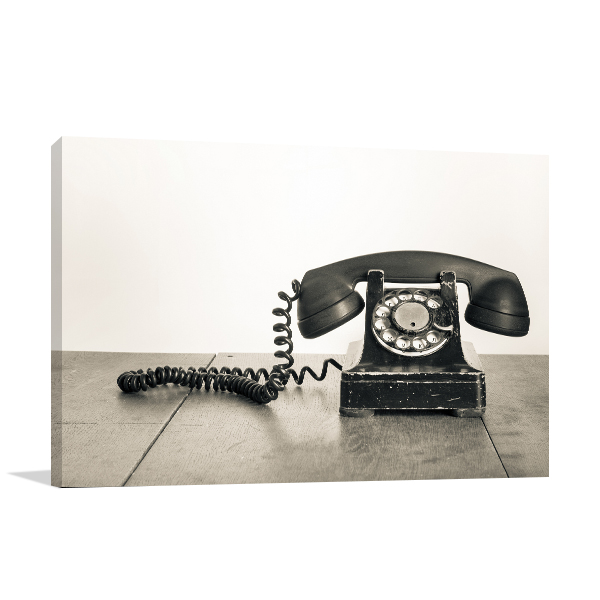 Rotary Phone Canvas Artwork