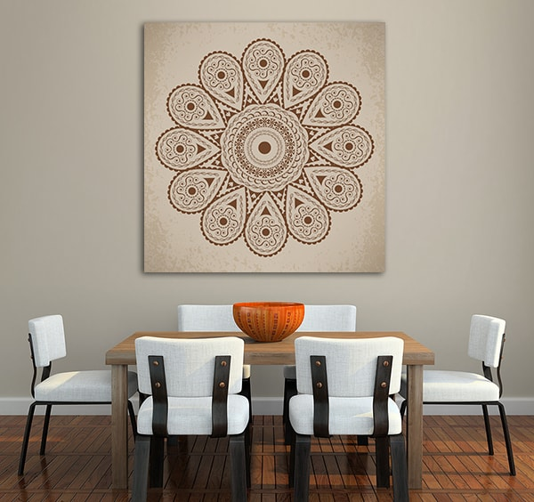 Round Ornament Canvas Prints