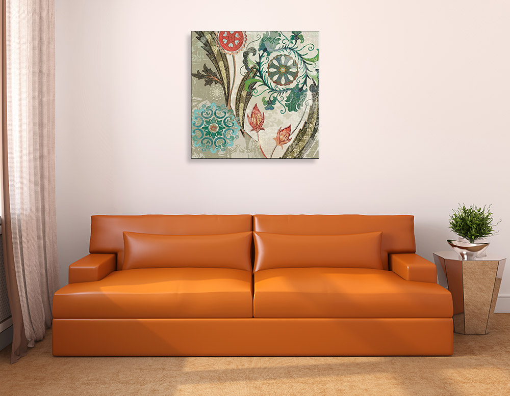 Floral Tapestry Canvas Art Print