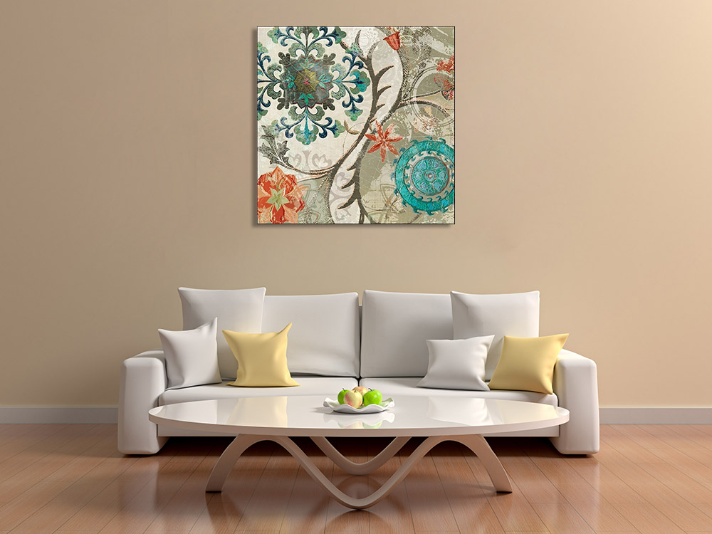 Botanical Pattern Canvas Art Print