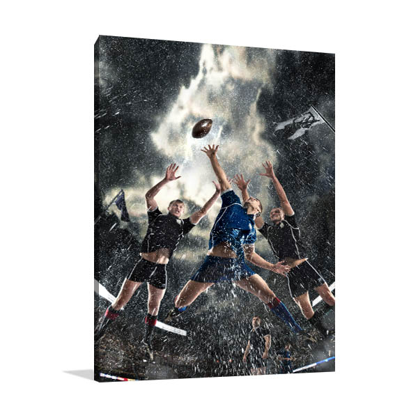 Rugby Players Canvas Art Prints