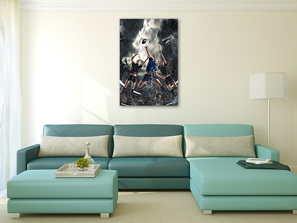 Rugby Players Prints Canvas