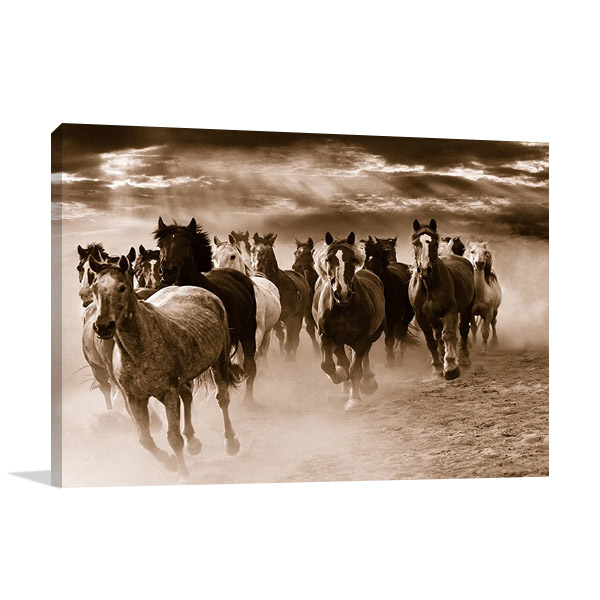 Running Horses Print Canvas  | Monte Nagler