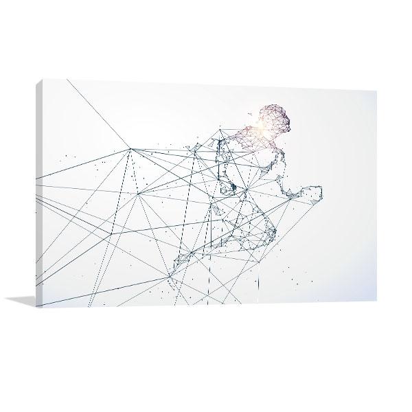 Running Man Canvas Art