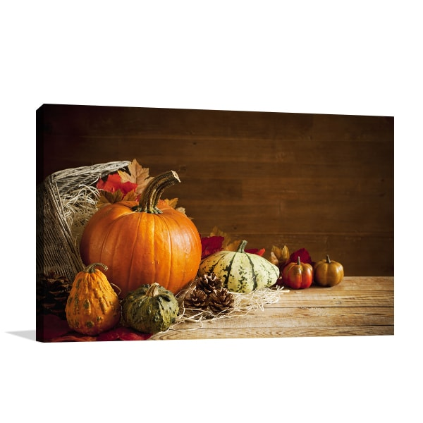 Rustic Autumn Wall Canvas
