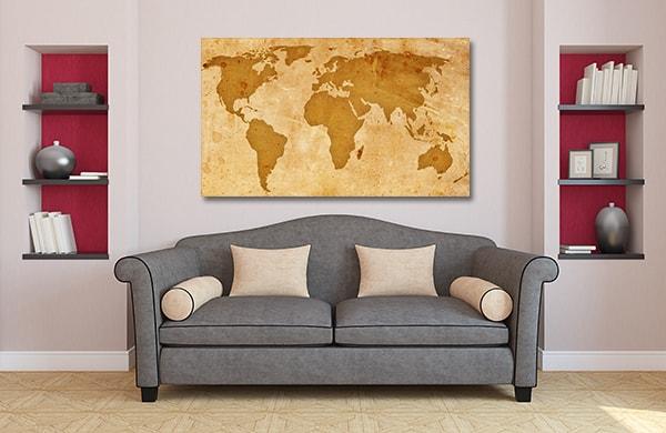 Rustic Pattern Map Art Prints