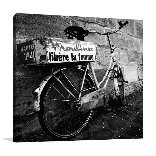 Rusty Bicycle Print on Canvas