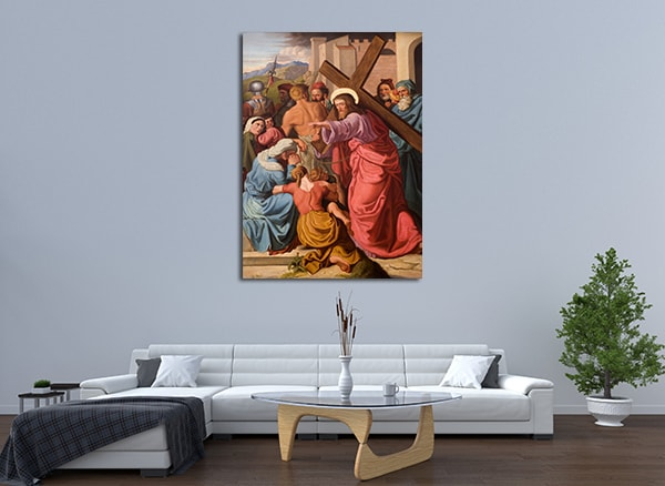 Sacrifice of Christ Art Print on the wall
